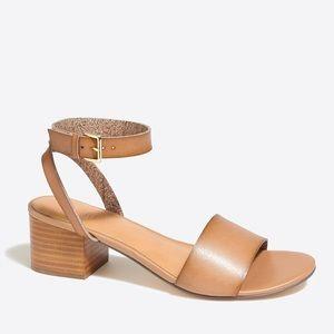 J. Crew Factory Tan Block Heel Sandals Size 7.5